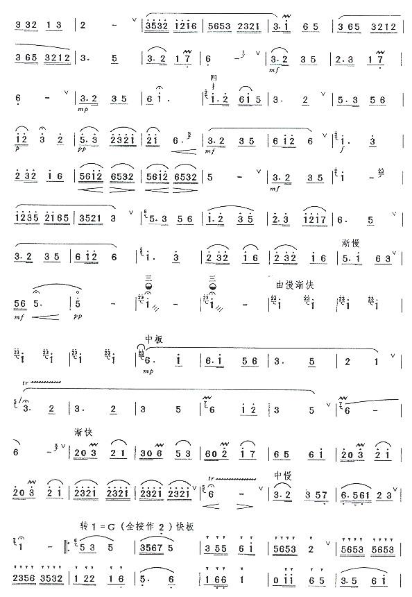 下载:小放牛(五级)笛子(箫)曲谱(图2)-小放牛 五级