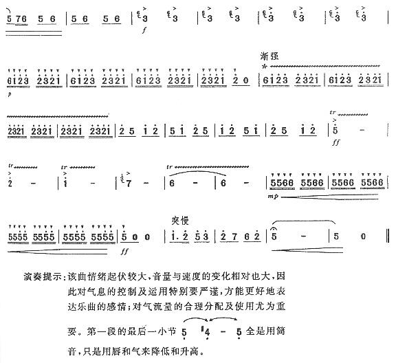 的回忆(七级)笛子(箫)曲谱(图4)-故乡的回忆 七级