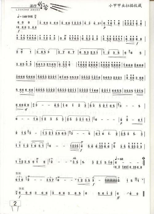 载:天路笛子(箫)曲谱(图2)-天路