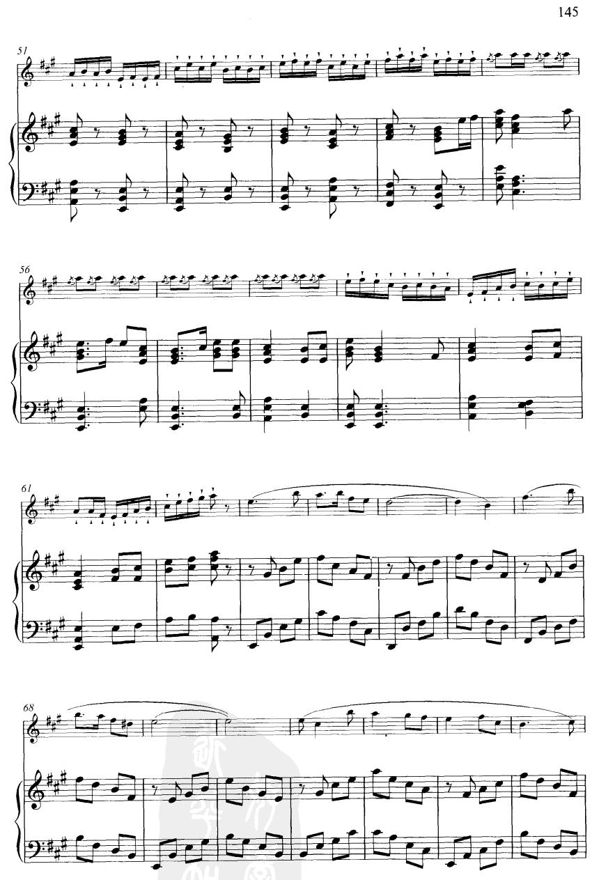 下载:大青山下(线谱)笛子(箫)曲谱(图3)-大青山下 线谱