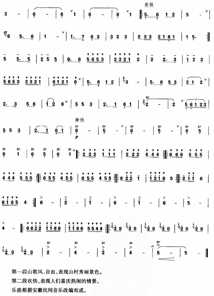 下载:山村新歌笛子(箫)曲谱(图3)-山村新歌