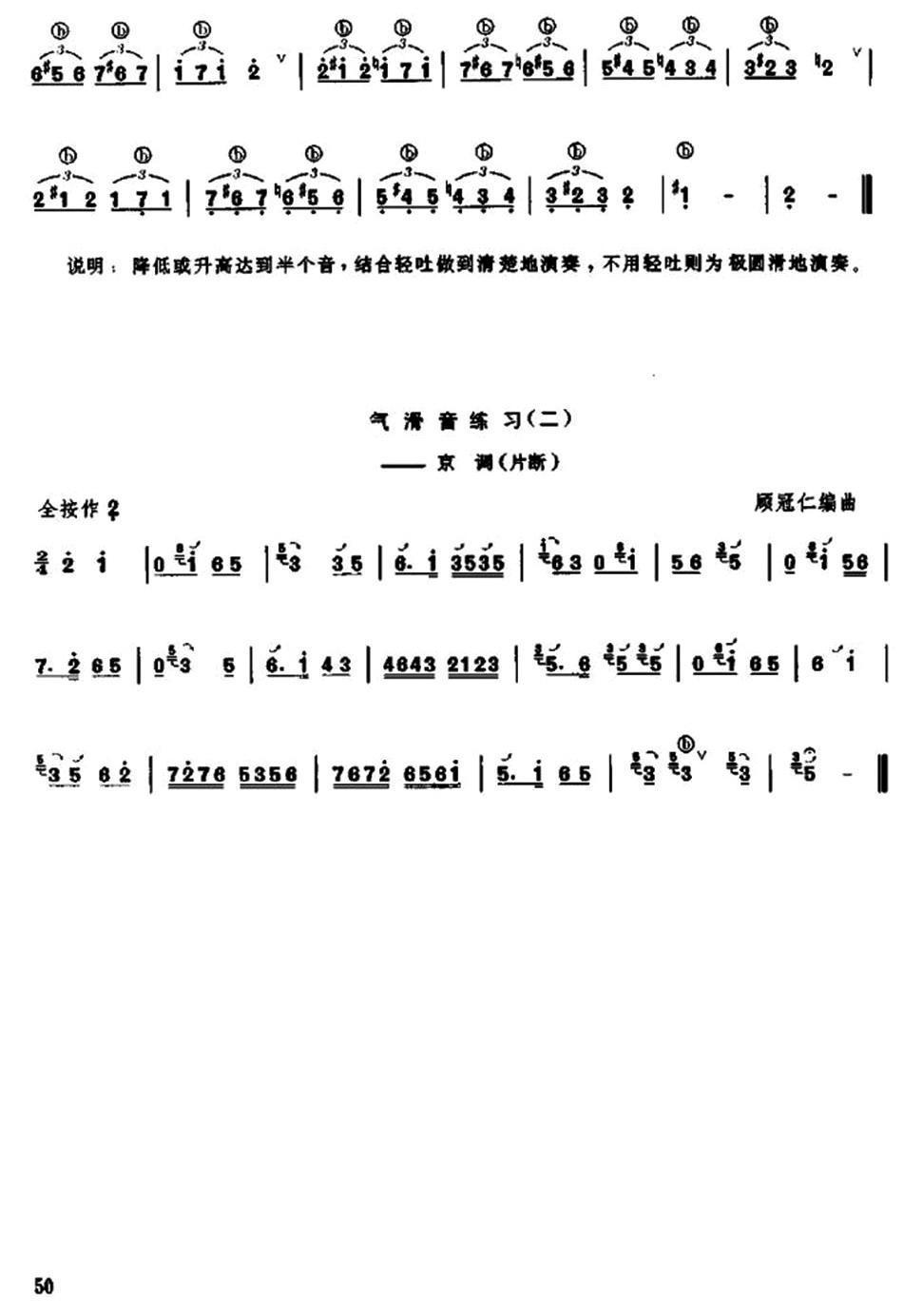 下载:笛子滑音练习笛子(箫)曲谱(图4)-笛子滑音练习