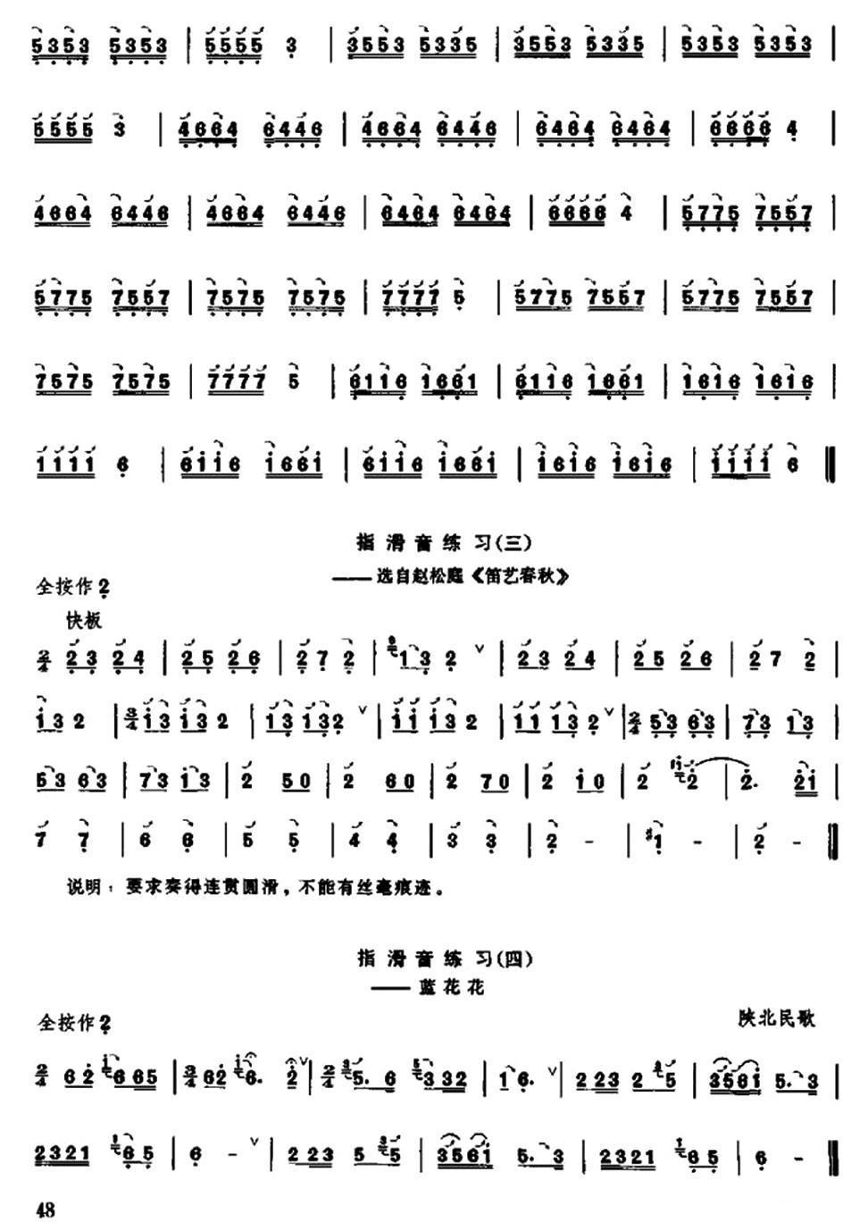 下载:笛子滑音练习笛子(箫)曲谱(图2)-笛子滑音练习