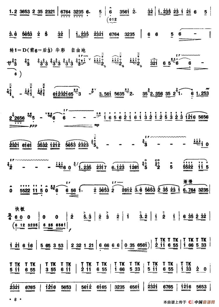 下载:江南春笛子(箫)曲谱(图4)-江南春