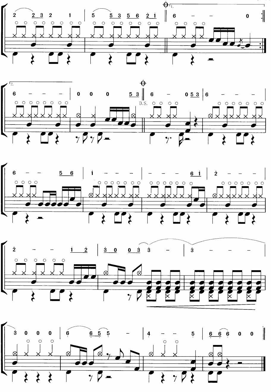 骏马奔驰保边疆(摇滚乐鼓谱)其它曲谱(图3)
