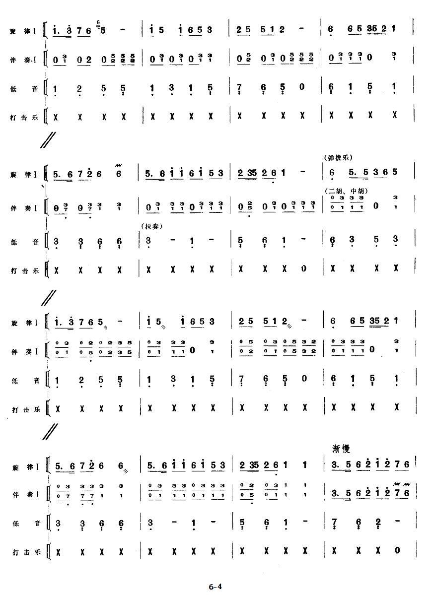 下载:五、欢庆胜利(民族管弦乐《小八路》套曲)其它曲谱(图4)