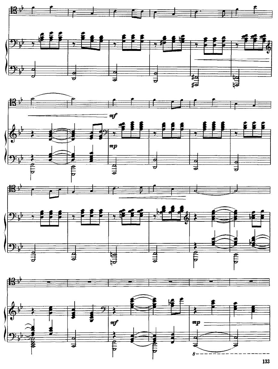 嘎达梅林主题幻想曲(经典长号曲)萨克斯曲谱(图3)