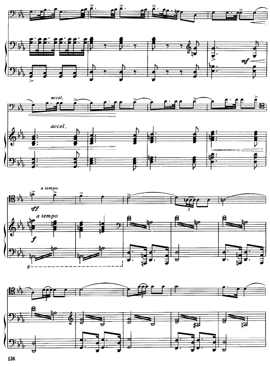 嘎达梅林主题幻想曲(经典长号曲)萨克斯曲谱(图6)