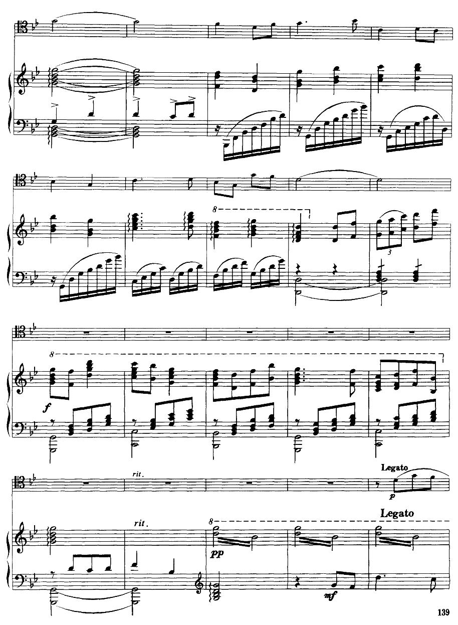 嘎达梅林主题幻想曲(经典长号曲)萨克斯曲谱(图9)