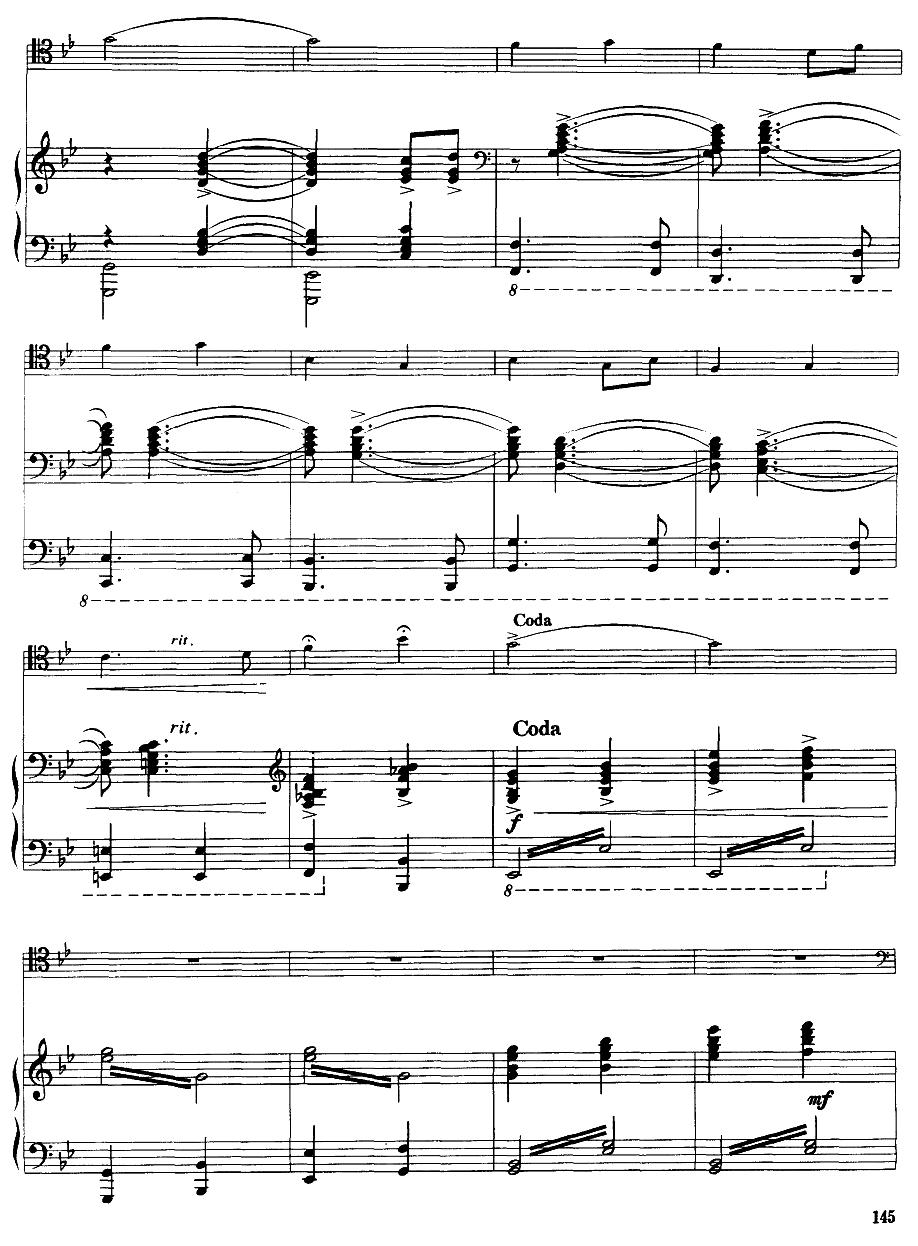 嘎达梅林主题幻想曲(经典长号曲)萨克斯曲谱(图15)