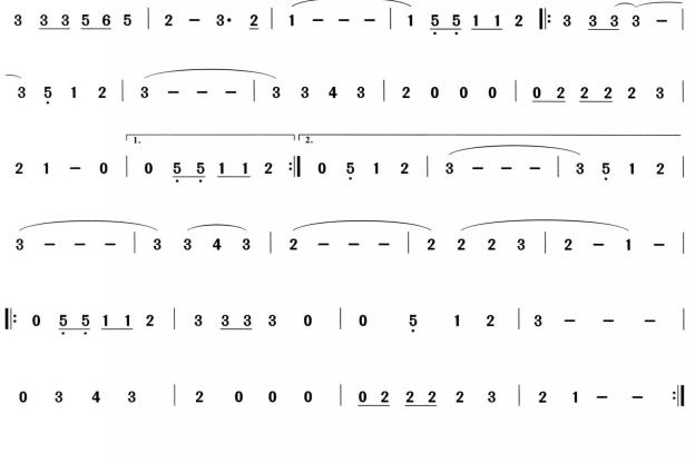 巴比伦河萨克斯曲谱(图2)