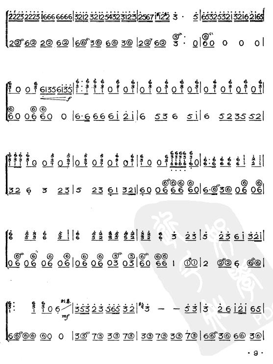 阿里山的姑娘(简谱版)手风琴曲谱(图3)