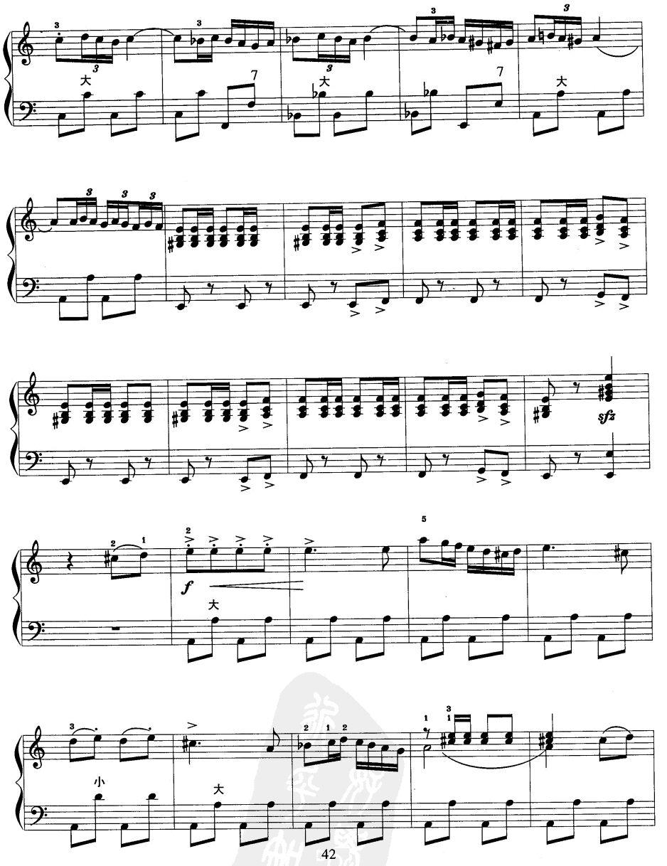 西班牙斗牛士手风琴曲谱(图2)