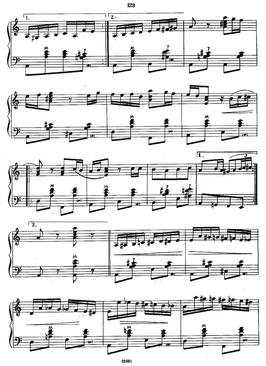小苹果变奏曲手风琴曲谱(图7)