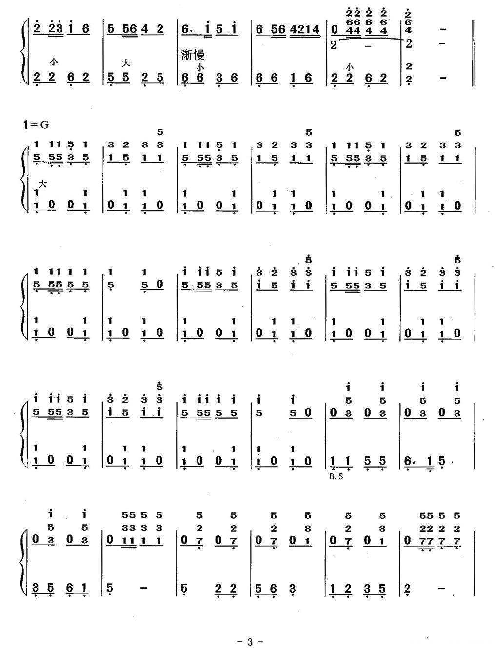 洗衣歌(线谱+简谱)手风琴曲谱(图8)
