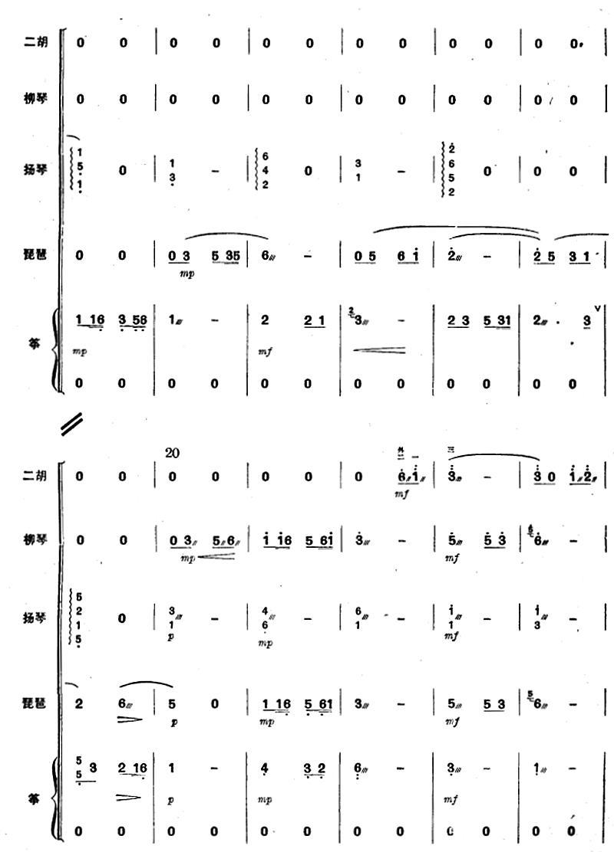 映山红花开红军来(五重奏)2总谱(图1)