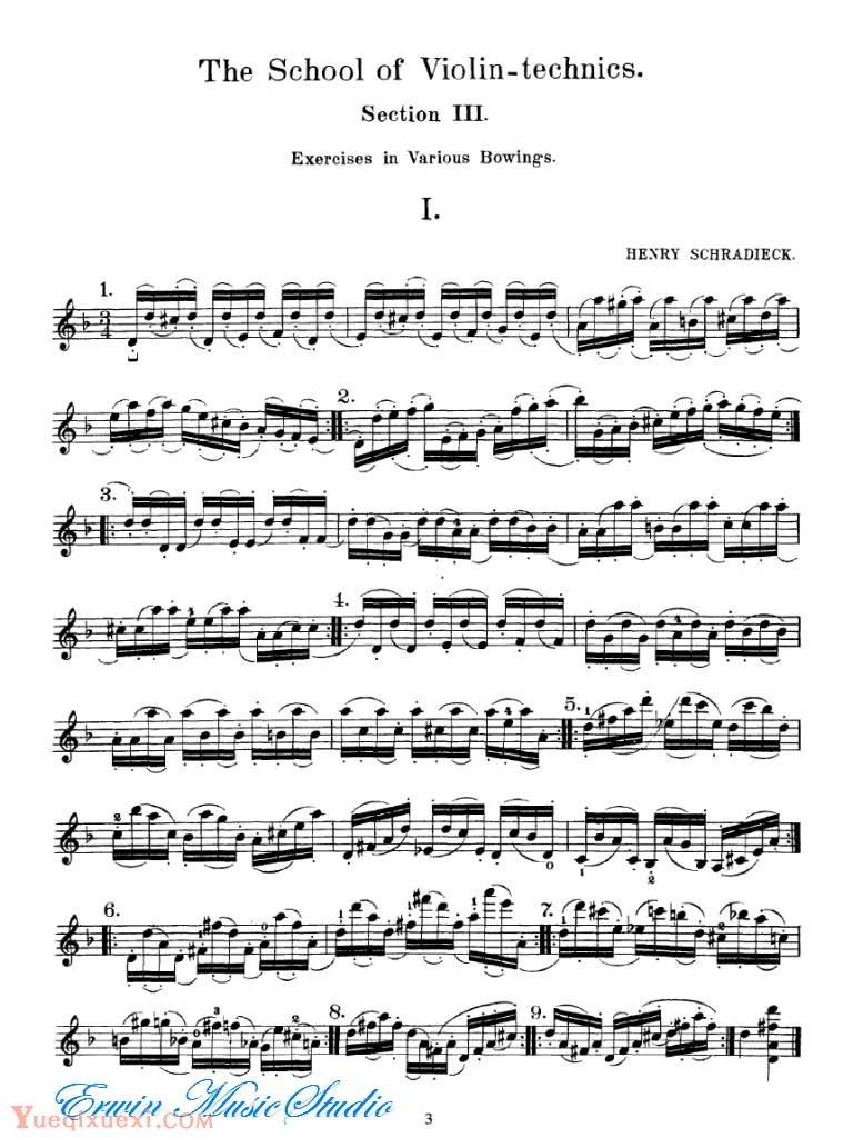 雪拉狄克-小提琴技巧训练 图书3-运弓练习法01