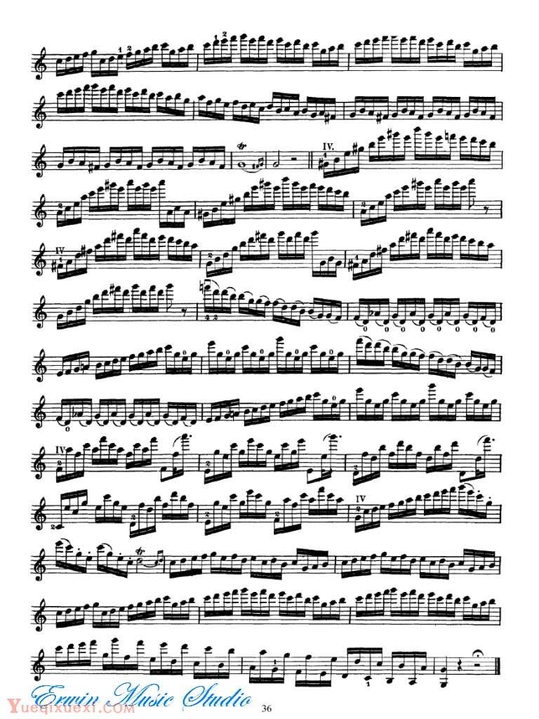 Federigo Fiorillo 36 Etudes or Caprices for Solo Violin 21-40