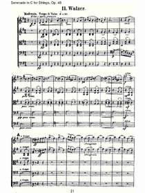 Serenade in C for Strings, Op.48  C调弦乐小夜曲,Op.48(五)