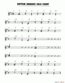 Rhythm Changes Solo Chart